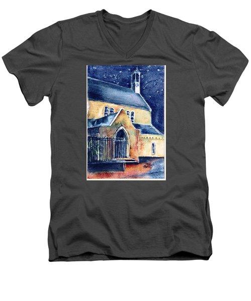 Duiske Abbey Ireland    Men's V-Neck T-Shirt by Trudi Doyle