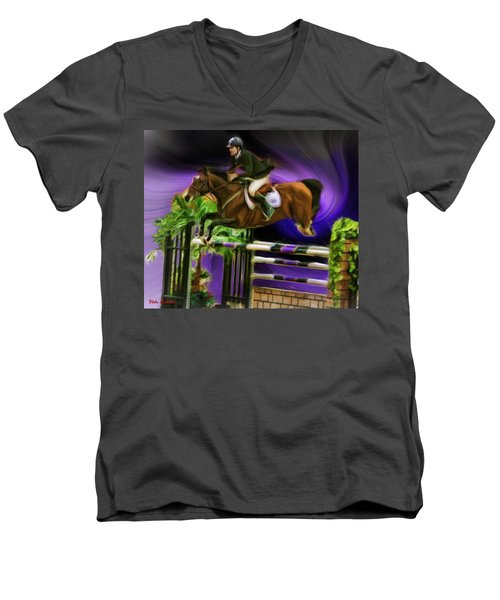Duncan Mcfarlane On Horse Mr Whoopy Men's V-Neck T-Shirt