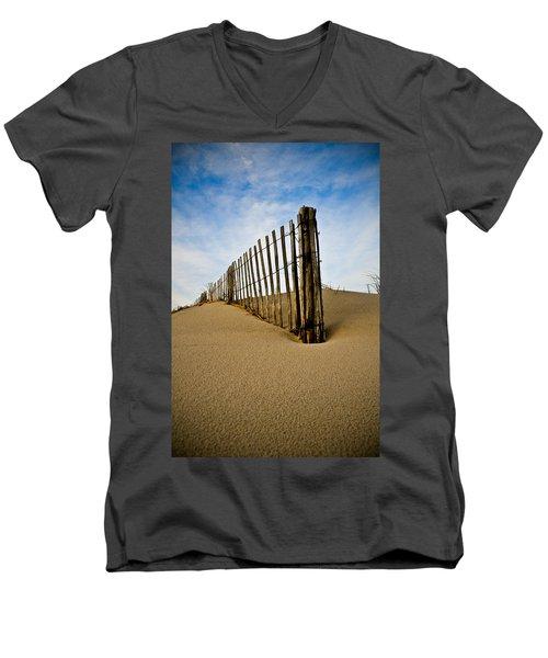 Men's V-Neck T-Shirt featuring the photograph Dune by Kristopher Schoenleber