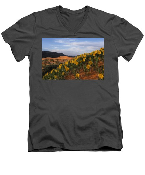 Dunes In Bloom Men's V-Neck T-Shirt