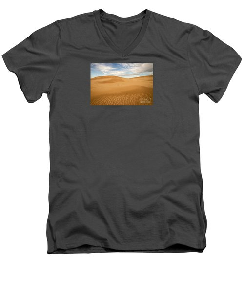 Dunescape Men's V-Neck T-Shirt by Alice Cahill