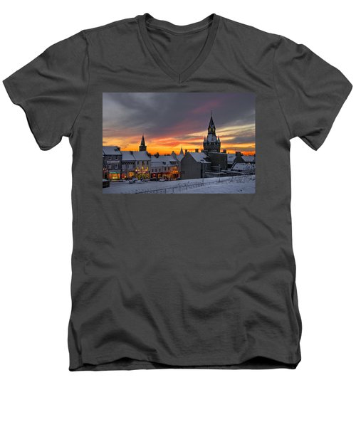 Dunfermline Winter Sunset Men's V-Neck T-Shirt