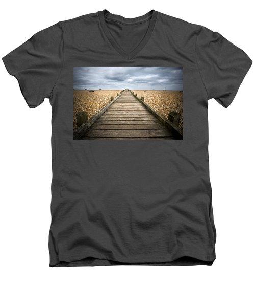 Dungeness Beach Walkway Men's V-Neck T-Shirt