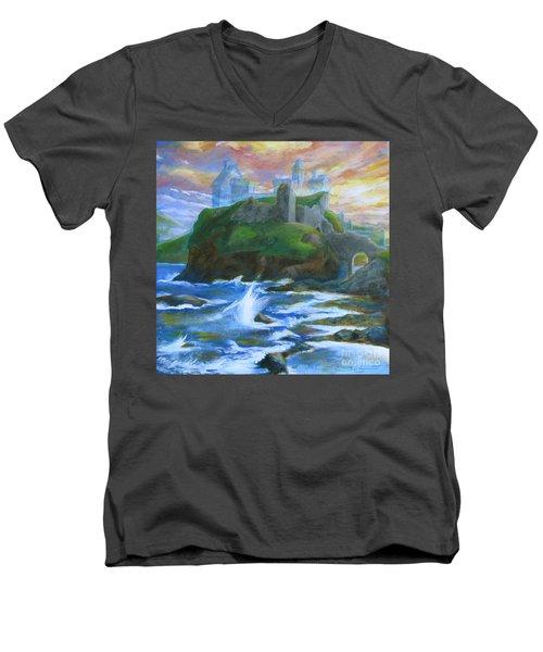 Dunscaith Castle - Shadows Of The Past Men's V-Neck T-Shirt
