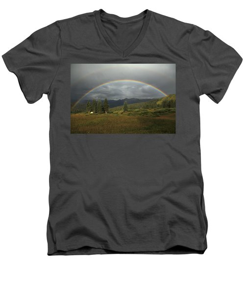 Durango Double Rainbow Men's V-Neck T-Shirt