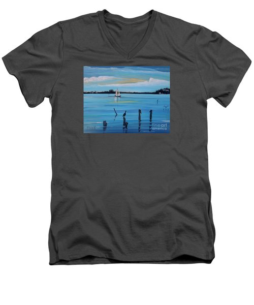 Dusk Approaching  Men's V-Neck T-Shirt by Marilyn  McNish