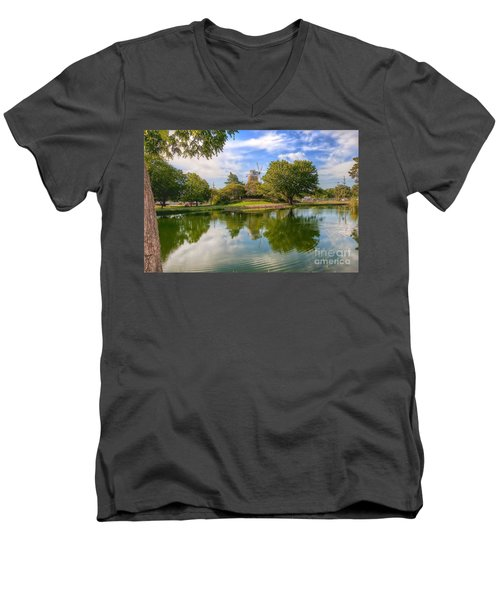 Men's V-Neck T-Shirt featuring the photograph Dutch Mill  by Liane Wright