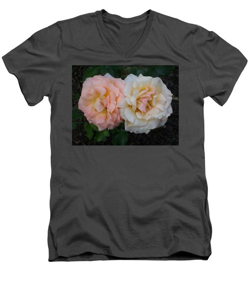 Men's V-Neck T-Shirt featuring the photograph Dynamic Duo by Jewel Hengen