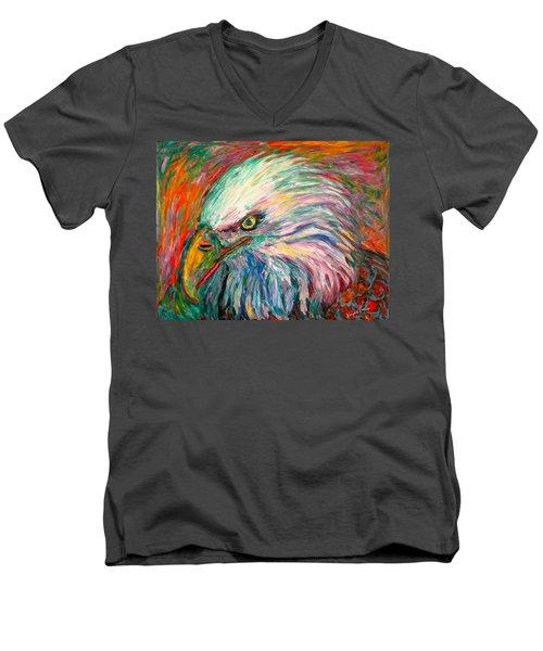 Eagle Fire Men's V-Neck T-Shirt by Kendall Kessler
