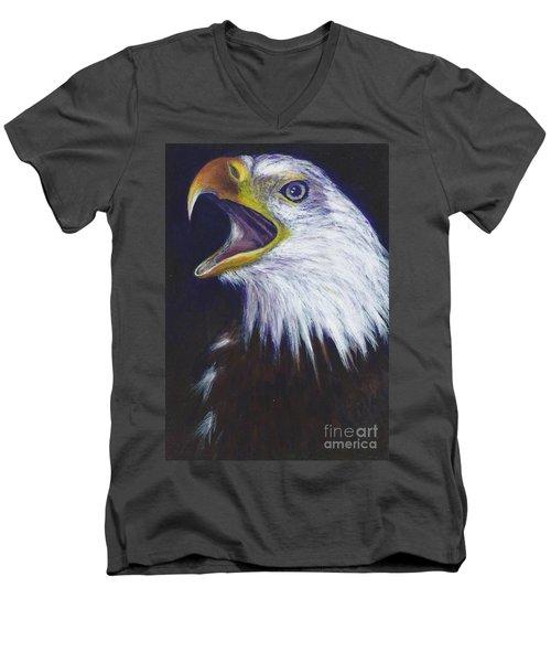 Bald Eagle - Francis -audubon Men's V-Neck T-Shirt