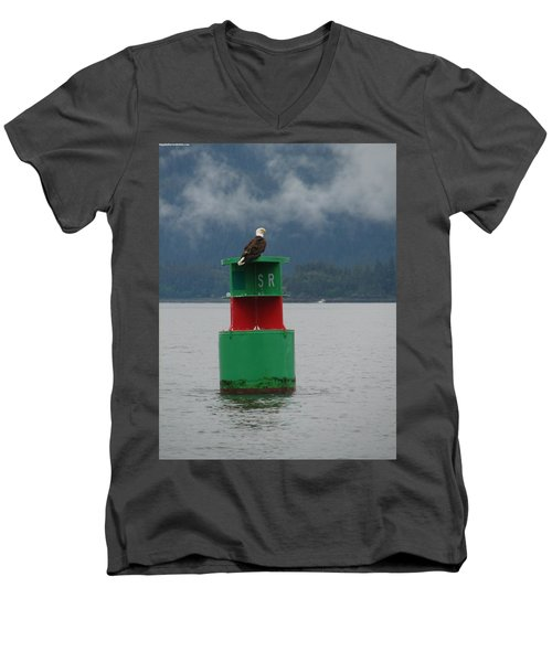 Eagle On Bouy Men's V-Neck T-Shirt