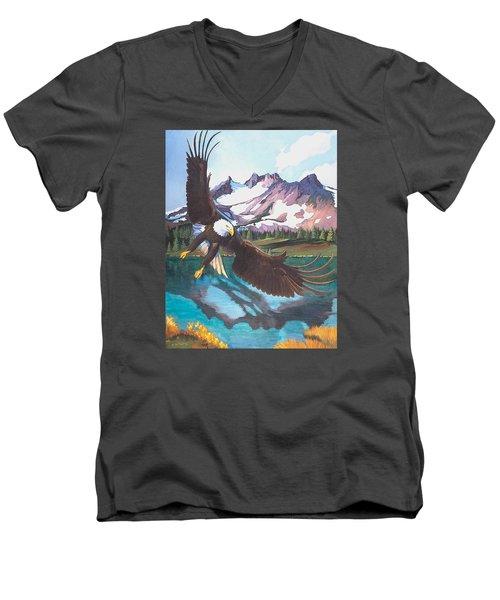 Eagle Oregon Lake Men's V-Neck T-Shirt