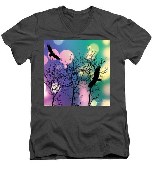 Eagle Rebirth Light Men's V-Neck T-Shirt