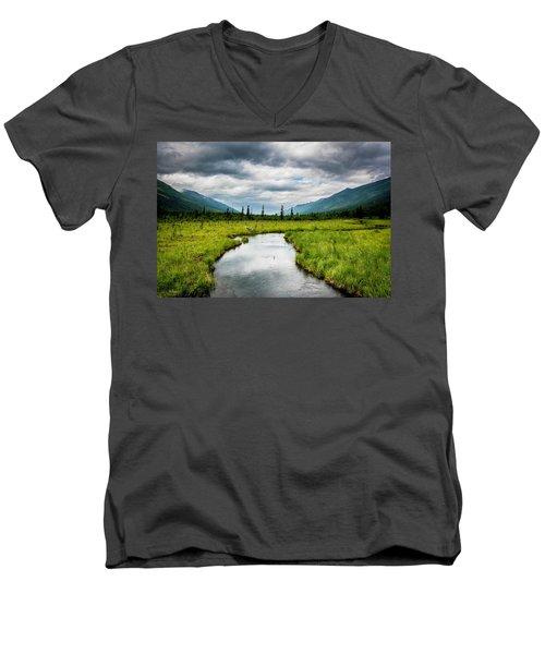 Eagle River Nature Center Men's V-Neck T-Shirt by Andrew Matwijec