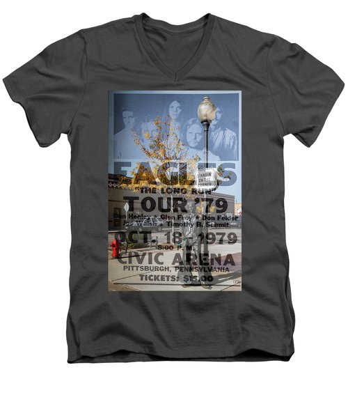 Eagles The Long Run Tour Men's V-Neck T-Shirt