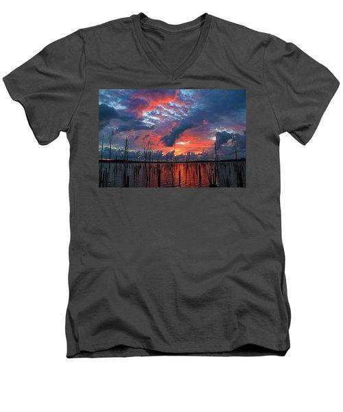 Early Dawns Light Men's V-Neck T-Shirt