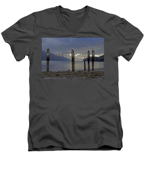 Early Morning Men's V-Neck T-Shirt by Cathy Mahnke