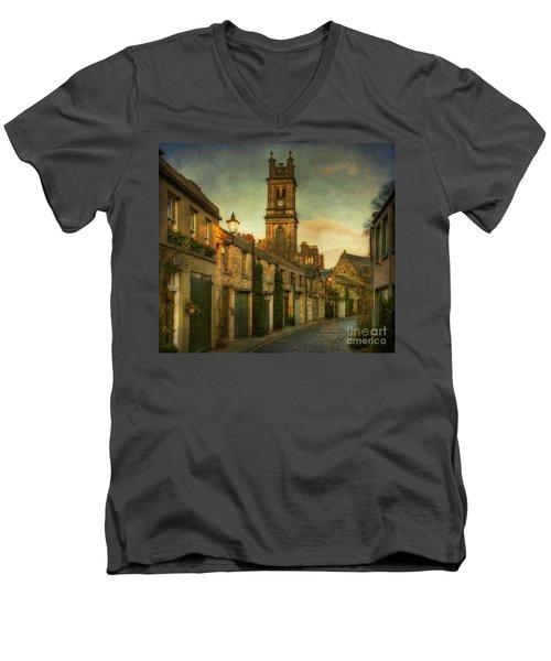 Early Morning Edinburgh Men's V-Neck T-Shirt