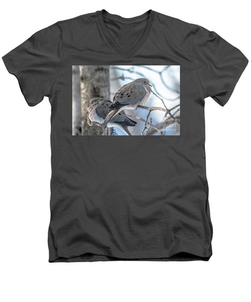 Early Mourning Men's V-Neck T-Shirt by Cheryl Baxter