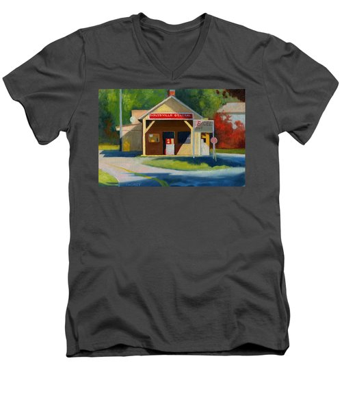 Earlysville Virginia Old Service Station Nostalgia Men's V-Neck T-Shirt