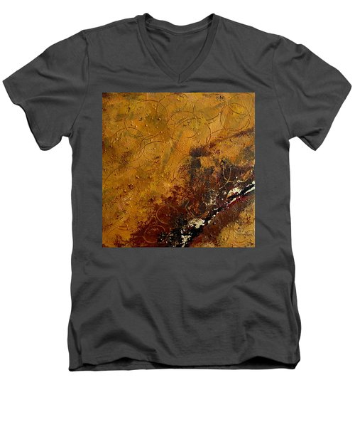 Earth Abstract Two Men's V-Neck T-Shirt by Lance Headlee