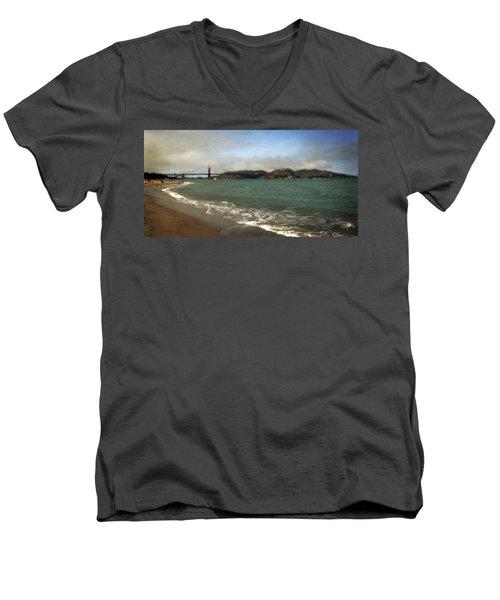 East Beach And Golden Gate Men's V-Neck T-Shirt