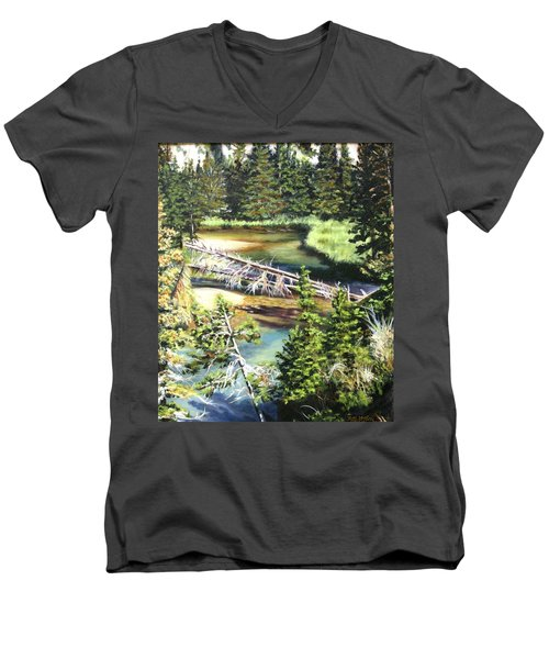East Rosebud Inlet Stream Men's V-Neck T-Shirt