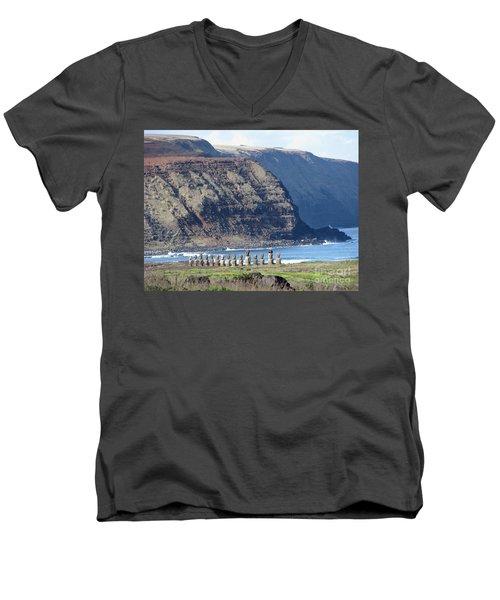 Easter Island Requiem Men's V-Neck T-Shirt