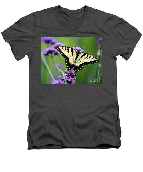 Eastern Tiger Swallowtail Butterfly 2014 Men's V-Neck T-Shirt