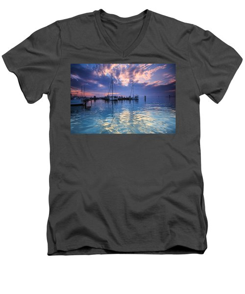 Eastport Sunrise Men's V-Neck T-Shirt