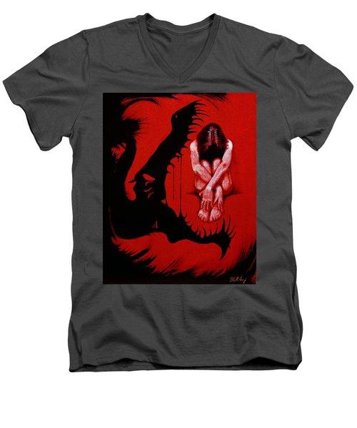 Eater Men's V-Neck T-Shirt