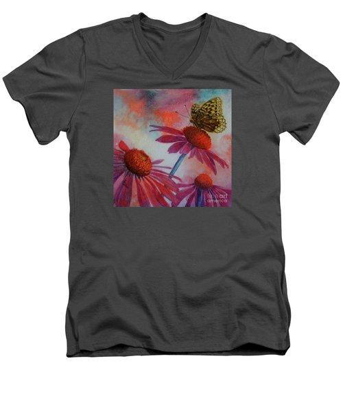 Echinacea Fritillaria Men's V-Neck T-Shirt
