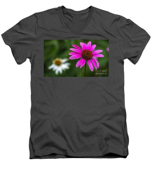 Echinacea Purpurea Men's V-Neck T-Shirt