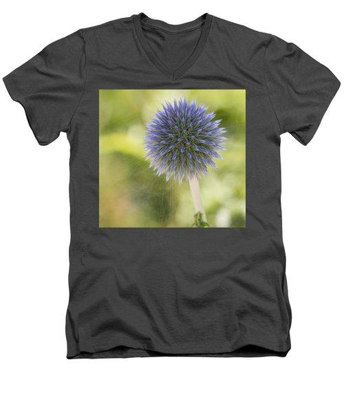 Echinops Blue Men's V-Neck T-Shirt