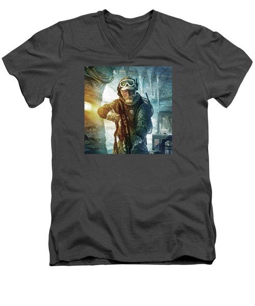 Echo Base Trooper Men's V-Neck T-Shirt