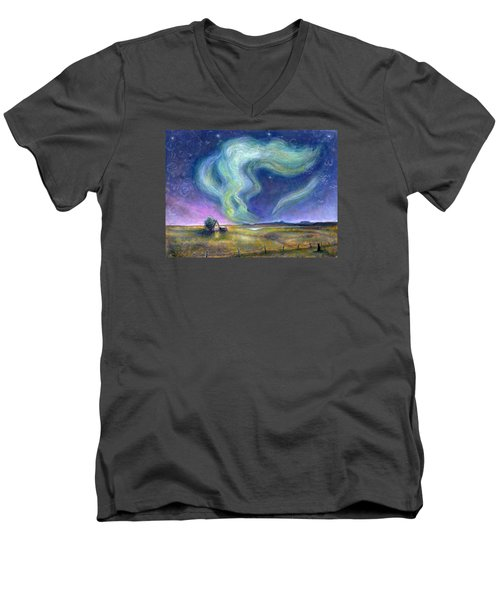 Echoes In The Sky Men's V-Neck T-Shirt by Retta Stephenson