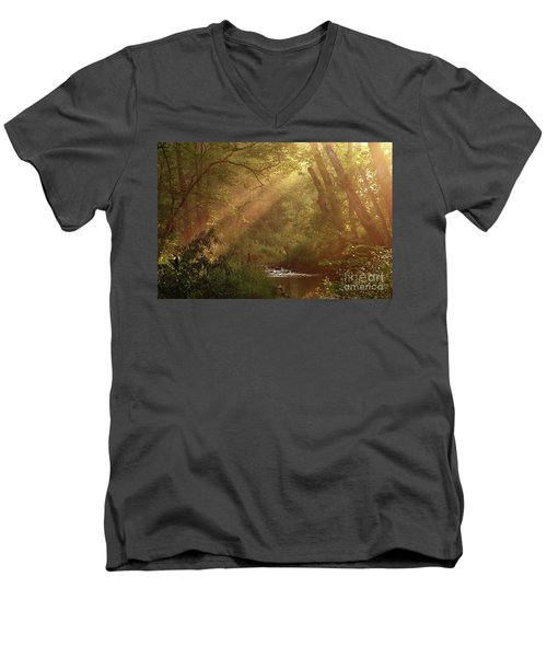 Eden...maybe. Men's V-Neck T-Shirt by Douglas Stucky
