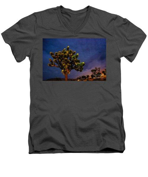 Edge Of Town Men's V-Neck T-Shirt by Angela J Wright