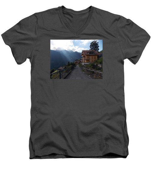 Edge Of Wengen Men's V-Neck T-Shirt