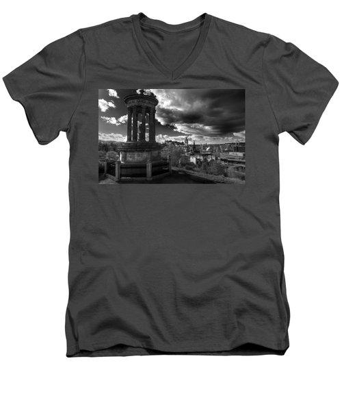 Edinburgh From Calton Hill Men's V-Neck T-Shirt