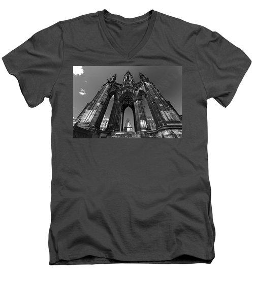 Edinburgh's Scott Monument Men's V-Neck T-Shirt