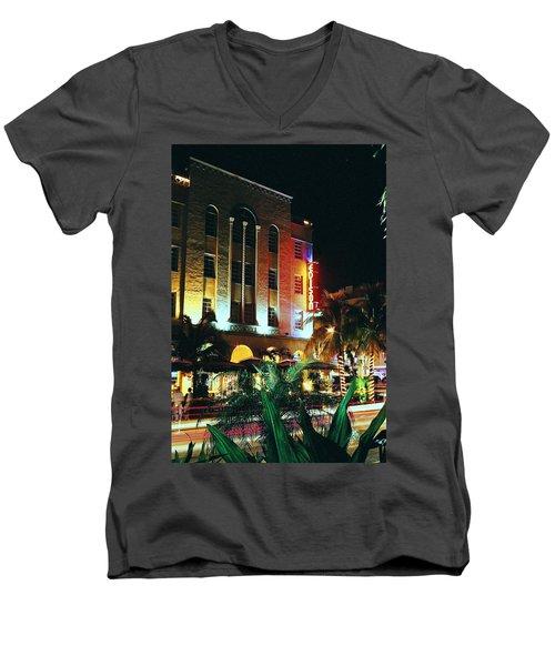 Edison Hotel Film Image Men's V-Neck T-Shirt