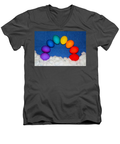 Men's V-Neck T-Shirt featuring the photograph Eggbow by Shane Bechler