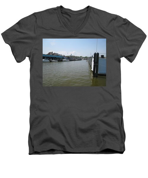 Men's V-Neck T-Shirt featuring the photograph Ego Alley by Charles Kraus
