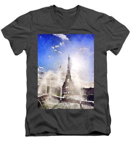 Eiffel During Summer Men's V-Neck T-Shirt