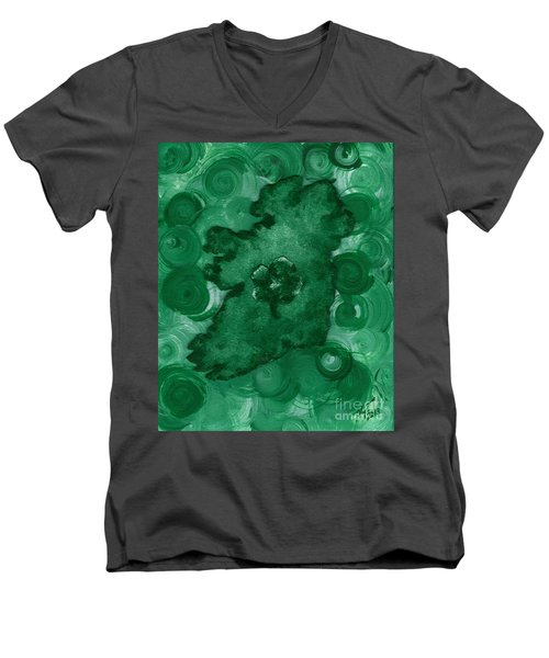 Eire Heart Of Ireland Men's V-Neck T-Shirt by Alys Caviness-Gober