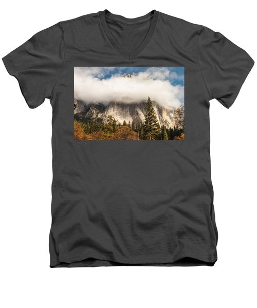 El Capitan Men's V-Neck T-Shirt by Muhie Kanawati