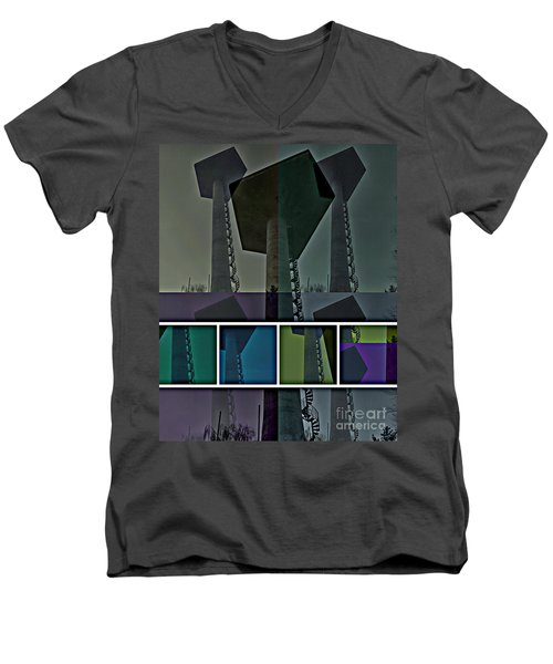 Men's V-Neck T-Shirt featuring the photograph Elastic Concrete Part One by Sir Josef - Social Critic - ART