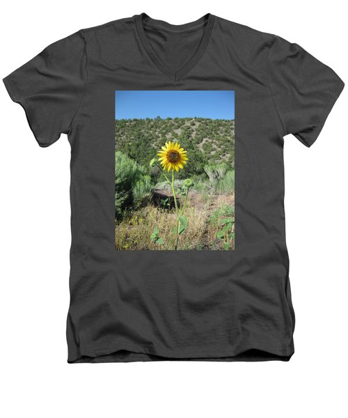 Elated Sunflower Men's V-Neck T-Shirt