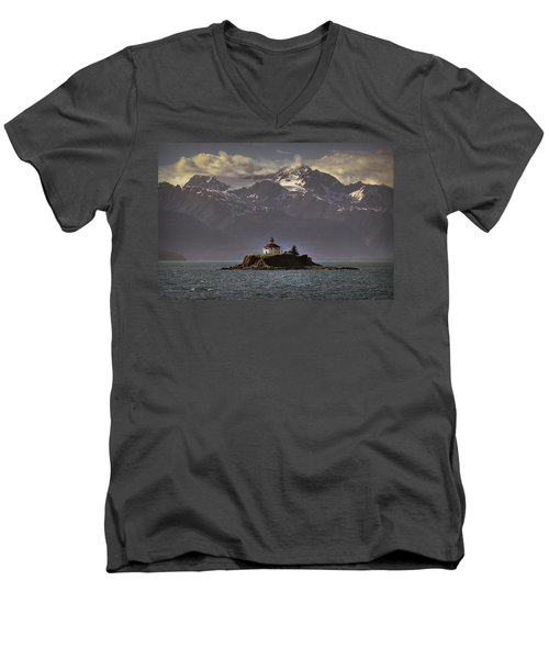 Eldred Rock Lighthouse Alaska Men's V-Neck T-Shirt